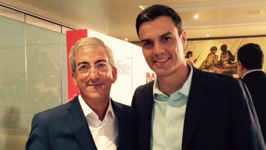 El Presidente de SIEC con el Secretario General del PSOE