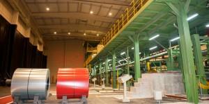 Interior de la fábrica en el Puerto de Santander