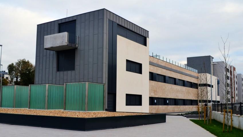 Vista general de los dos edificios