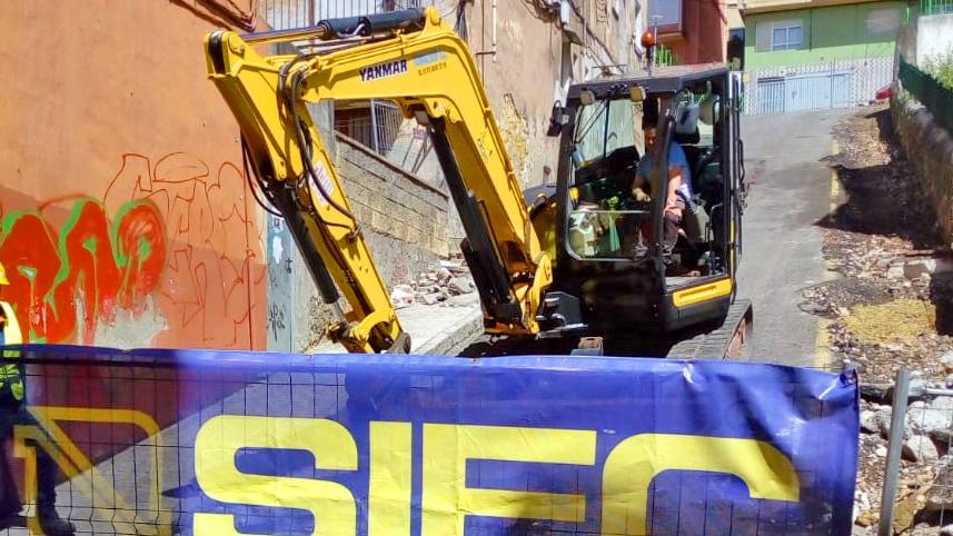 Inicio de las obras en tramo calle Enrique Gran
