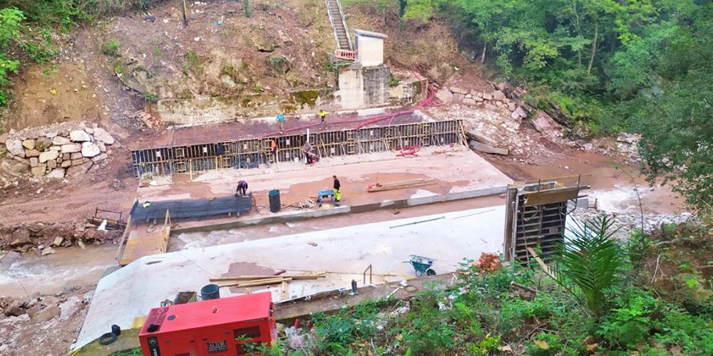 Estación de aforo río Pas 1